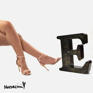 Tory Burch Elana Leather & Suede Sandal Heels